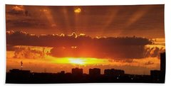 Toronto - Just One Breathtaking Sunset Beach Towel