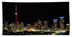 Toronto At Night Beach Sheet