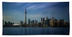 Toronto Cityscape Beach Towel