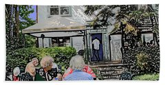 Toronto Island Restaurant Beach Towel by Ian  MacDonald
