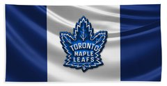Toronto Maple Leafs - 3d Badge Over Flag Beach Towel