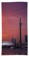 Toronto Sunset Beach Towel