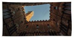 Torre Del Mangia Siena Italy  Beach Sheet