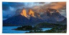 Torres Del Paine National Park, Chile Beach Towel