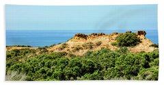 Torrey Pines California - Chaparral On The Coastal Cliffs Beach Towel