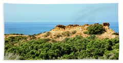 Torrey Pines California - Chaparral On The Coastal Cliffs Beach Sheet