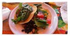 Beach Towel featuring the photograph Tostada Times Two by Marie Neder