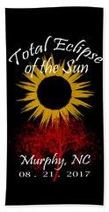 Total Eclipse T-shirt Art Murphy Nc Beach Towel