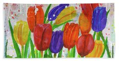 Totally Tulips Beach Towel