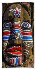 Totem Face Beach Towel