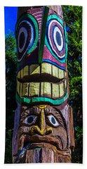 Totem Pole Figures Beach Towel