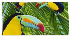 Toucan Threesome Beach Towel