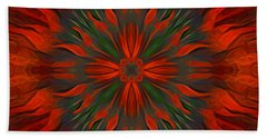 Beach Towel featuring the digital art Tough Red by Giada Rossi