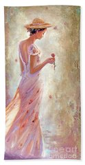 Beach Sheet featuring the painting Toujours De Fleurs by Michael Rock