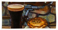 Tour De Yorkshire Pie N't Pint Beach Towel