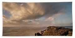 Toward Fleeting Clouds Beach Sheet by Greg Nyquist
