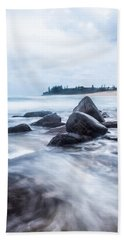 Beach Towel featuring the photograph Towards Calmer Waters by Parker Cunningham