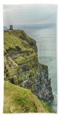 Tower At The Cliffs Of Moher Beach Towel
