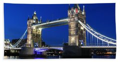 Tower Bridge At Night Beach Sheet