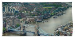 Tower Bridge In London Beach Sheet