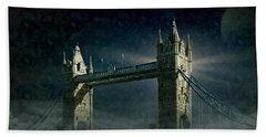 Tower Bridge In Moonlight Beach Towel