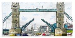 Tower Bridge London England Beach Sheet