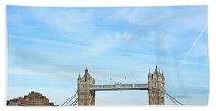 Tower Bridge London Beach Sheet