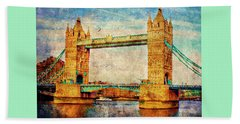 Tower Bridge London Beach Sheet
