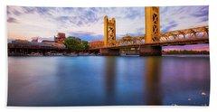 Tower Bridge Sacramento 3 Beach Towel