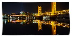 Tower Bridge Sacramento Beach Towel