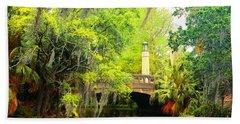 Tower Light Bridge Beach Towel