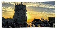 Tower Of Belem Beach Towel