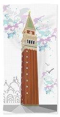 Tower Of Campanile In Venice Beach Towel