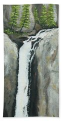 Towering Falls Beach Towel