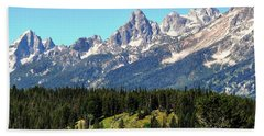 Towering Teton Range  Beach Towel