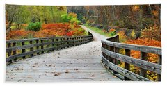 Towpath In Summit County Ohio Beach Towel
