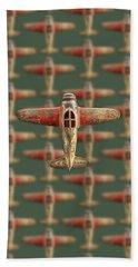 Toy Airplane Scrapper Pattern Beach Sheet by YoPedro