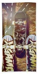 Toy Skateboards Beach Towel