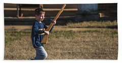 Toy Soldier Engages At Fort Washington Beach Towel by Jeff at JSJ Photography