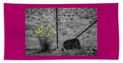 Toy Wheelbarrow And Wild Flowers Beach Towel