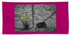 Toy Wheelbarrow And Wild Flowers Beach Sheet