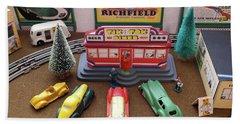 Toytown - Tik Tok Diner Beach Sheet