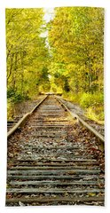 Track To Nowhere Beach Towel by Greg Fortier