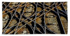 Beach Towel featuring the photograph Tracks Of Abandon by Michael Nowotny