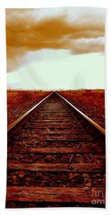 Marfa Texas America Southwest Tracks To California Beach Towel