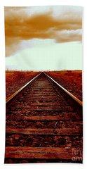 Marfa Texas America Southwest Tracks To California Beach Sheet