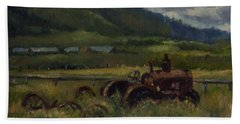 Tractor From Swan Valley Beach Towel