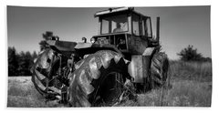 Tractor In The Countryside Beach Towel