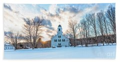 Beach Sheet featuring the photograph Traditional New England White Church Etna New Hampshire by Edward Fielding