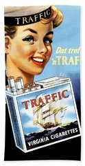 Traffic Cigarette Beach Towel